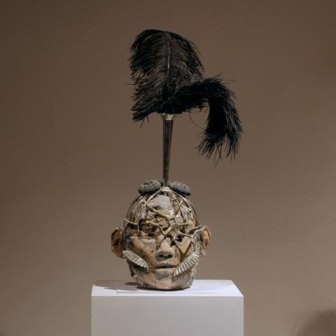 black-feathers+fly-legs-warrior-kriegerisch--55x17x17--180