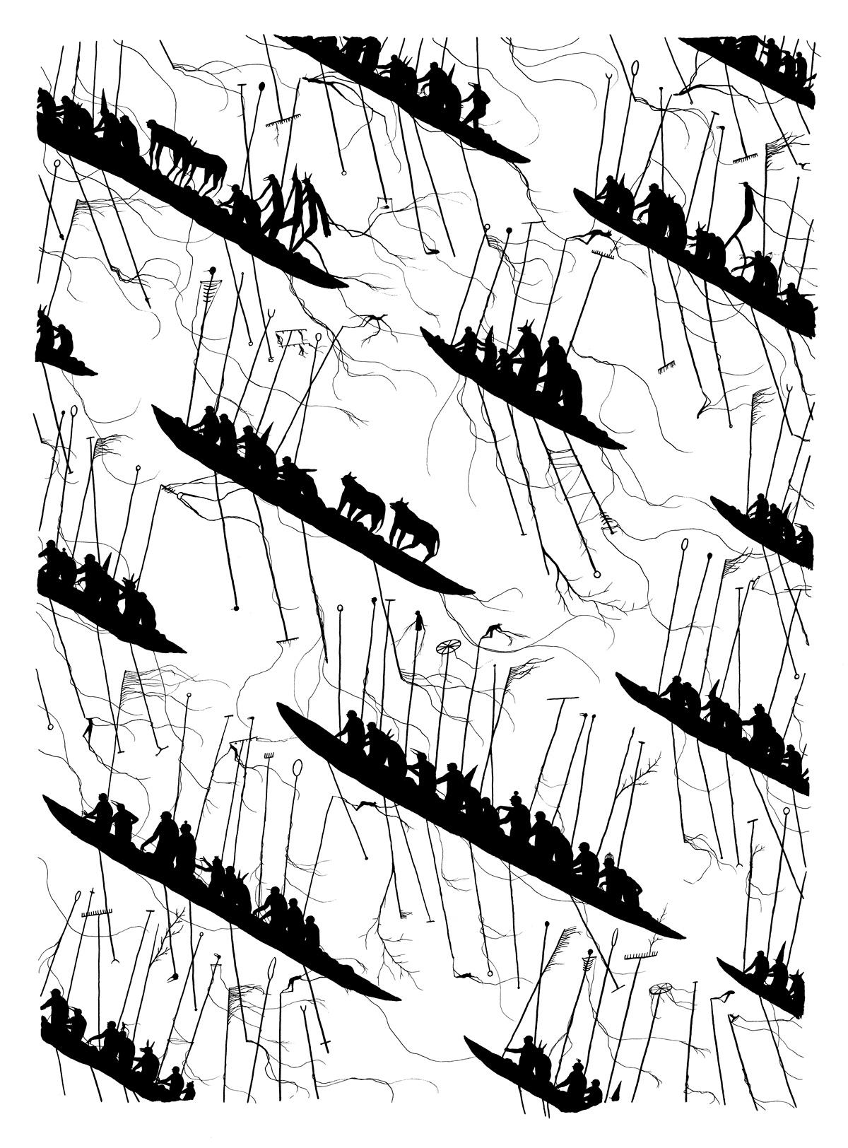 David de la Mano_Sin título_Tinta china sobre papel_56x76 cm_2016