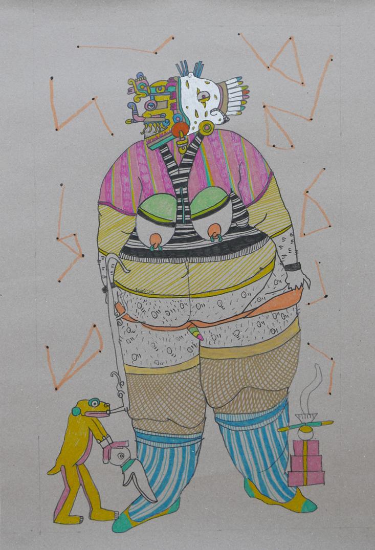 Chiloba-Papel,-boli,-pintura-acrílica-57x86