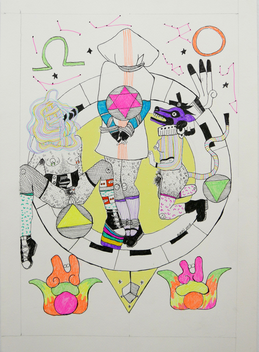 Triada-Papel,-boli,-pintura-acrili-34x48cm-2015-410-euros