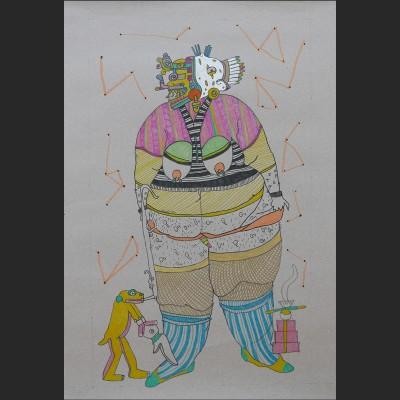 chiloba-papel-boli-pintura-acrilica-57x86