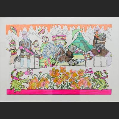 tierra-santa-papel-pluma-y-pintura-acrilica-98x69cm-2015-850-euros