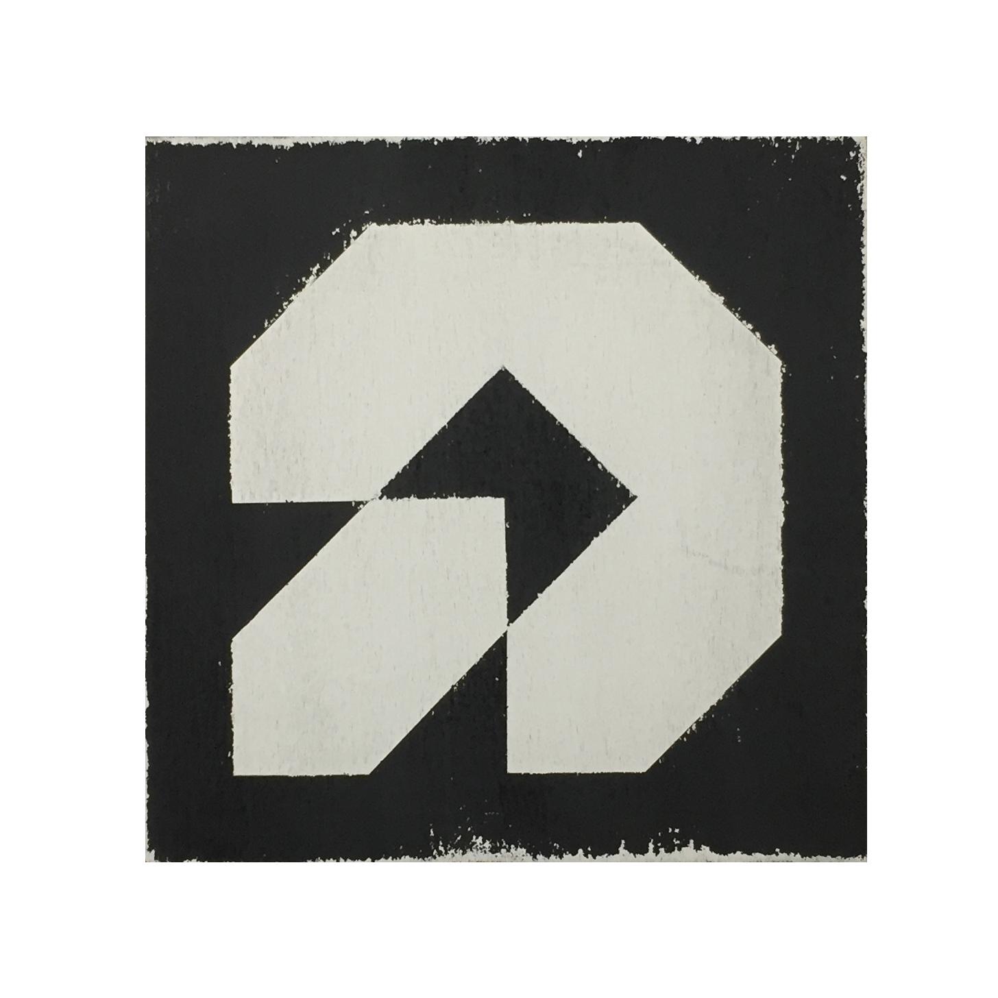 CONFLICT-02. Mixta sobre madera.40x40.Kaufman 2017