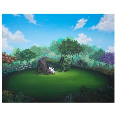 'El-abrazo-de-las-raices,-ramas,-hojas-y-flores'-Acrílico-sobre-lienzo--2016-92x73-1400€
